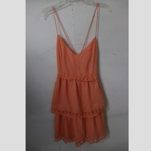 {Tobi} Peach Layered Braided Dress Size S